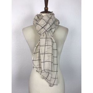 Rachel Pally Plaid Scarf Rectangular 31 x 72